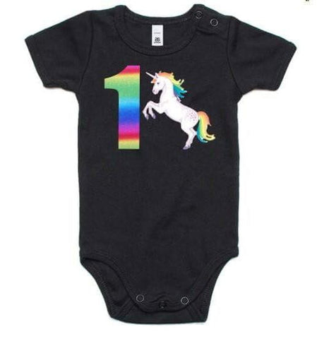 Unicorn Digit Onesie or Tee (choose your age)