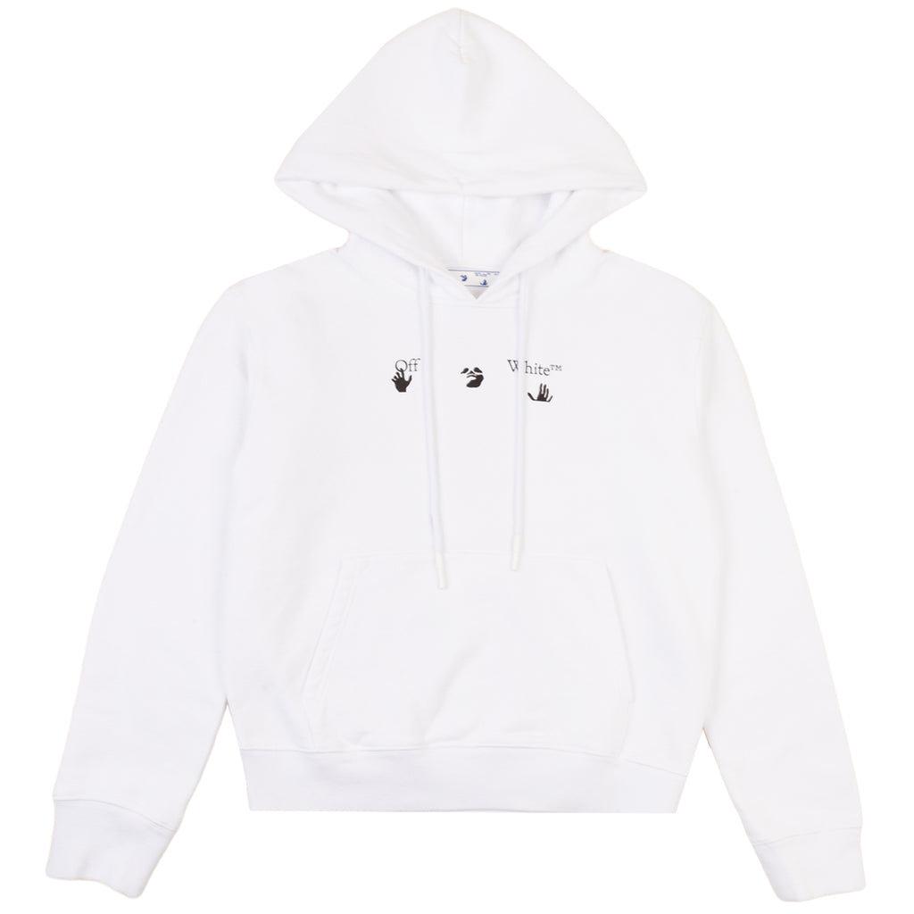 Off-White PS21 Peace Worldwide Slim Hoodie, White/Green