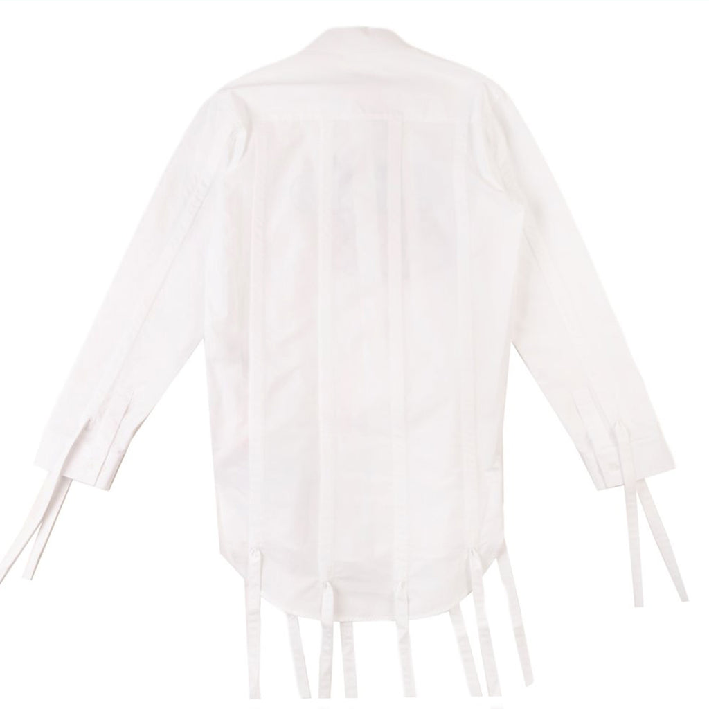 Off-White PS21 White Offf Graff Pull-Up Shirt, White High Rise