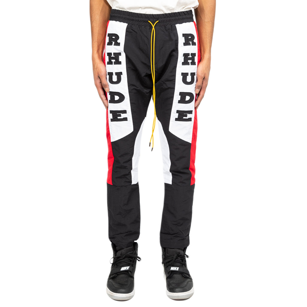 Rhude FW19 Rhacing Pant, Black/White/Red