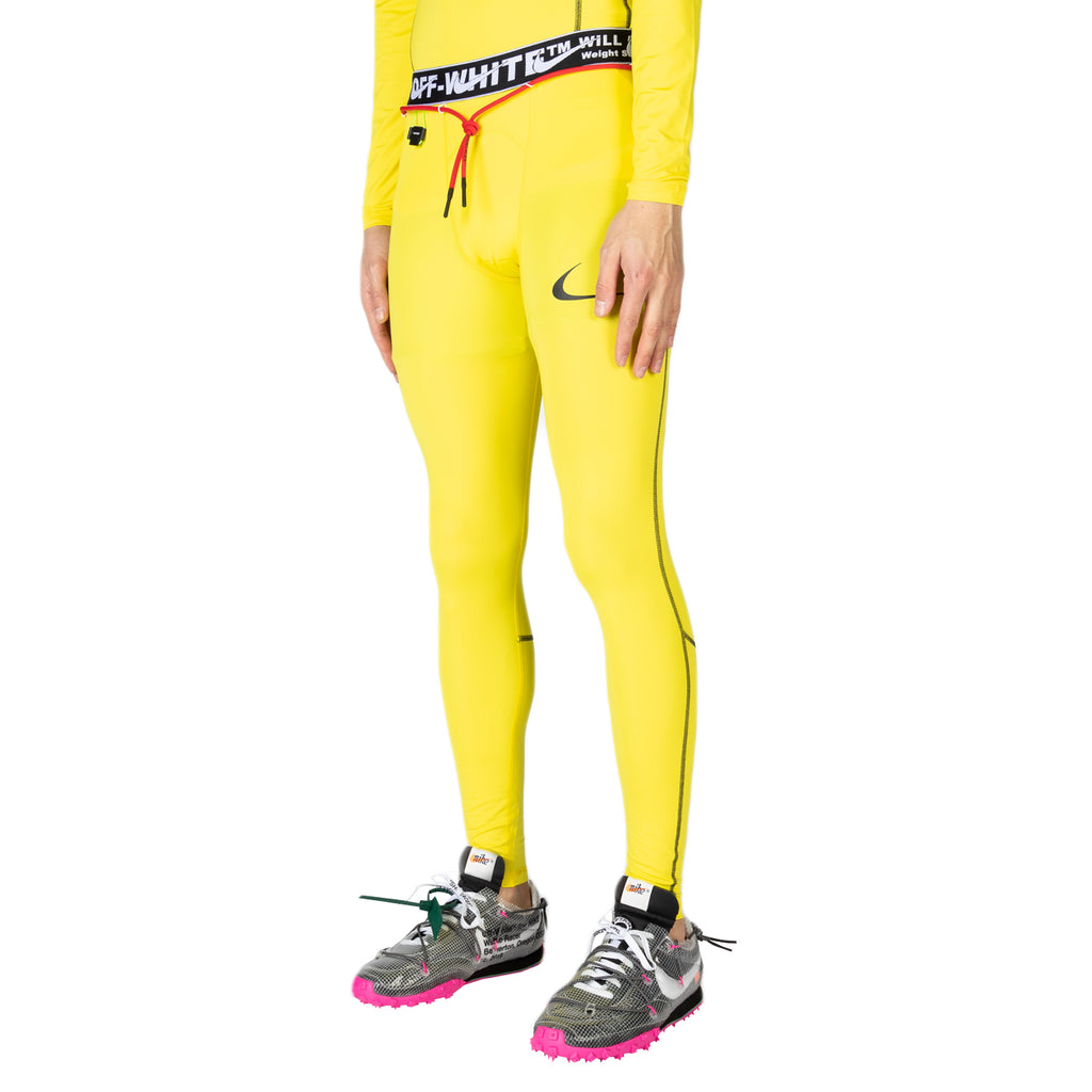 Nike x Off-White Men's NRG RU PRO Tights, Opti Yellow
