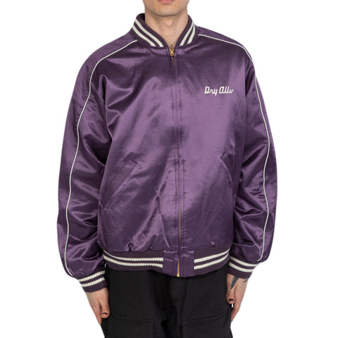 Human Made SS20 Varsity Satin Jacket, Purple