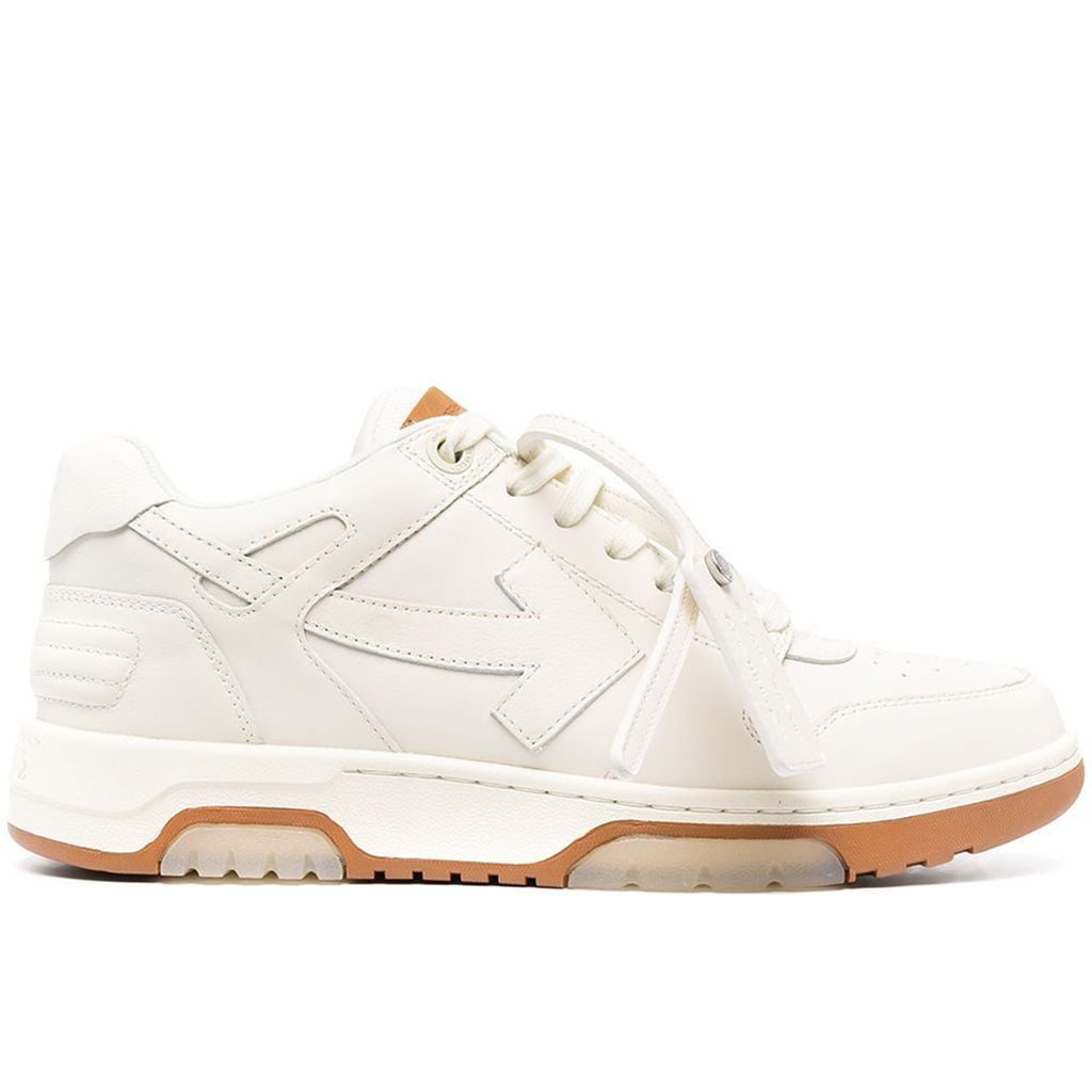Off-White SS21 Out of Office Calf Leather, Beige/Beige