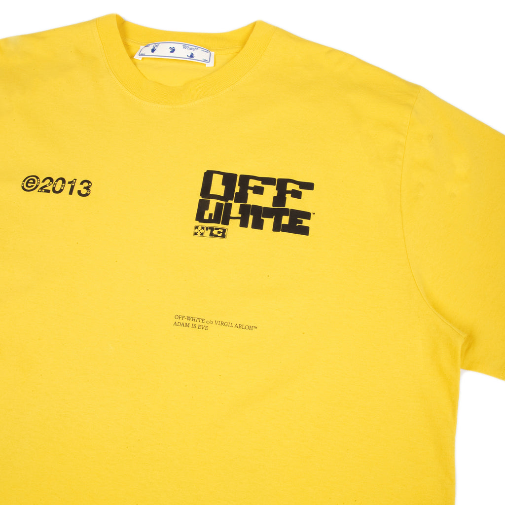Off-White SS21 Tech Marker S/S Over Tee, Maize/Black
