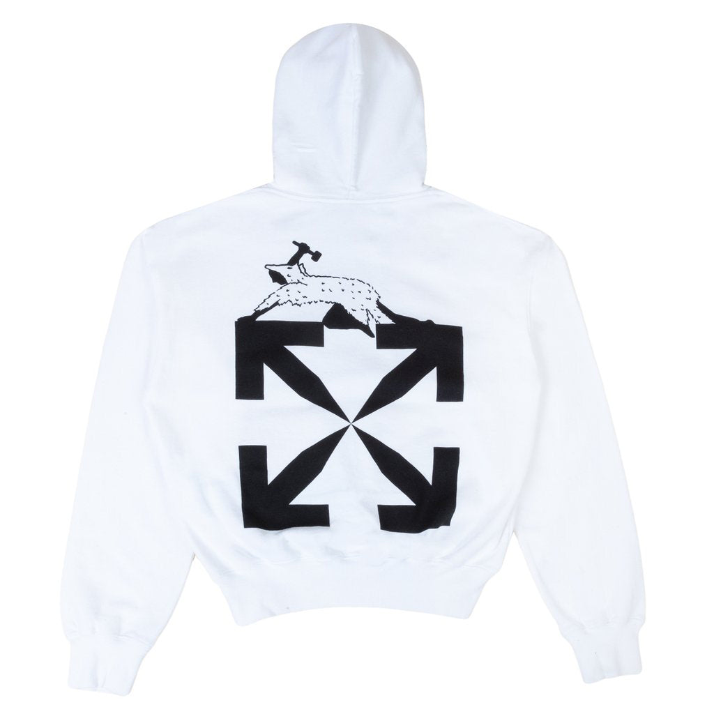Off-White PS21 World Caterpillar Over Hoodie, White/Black