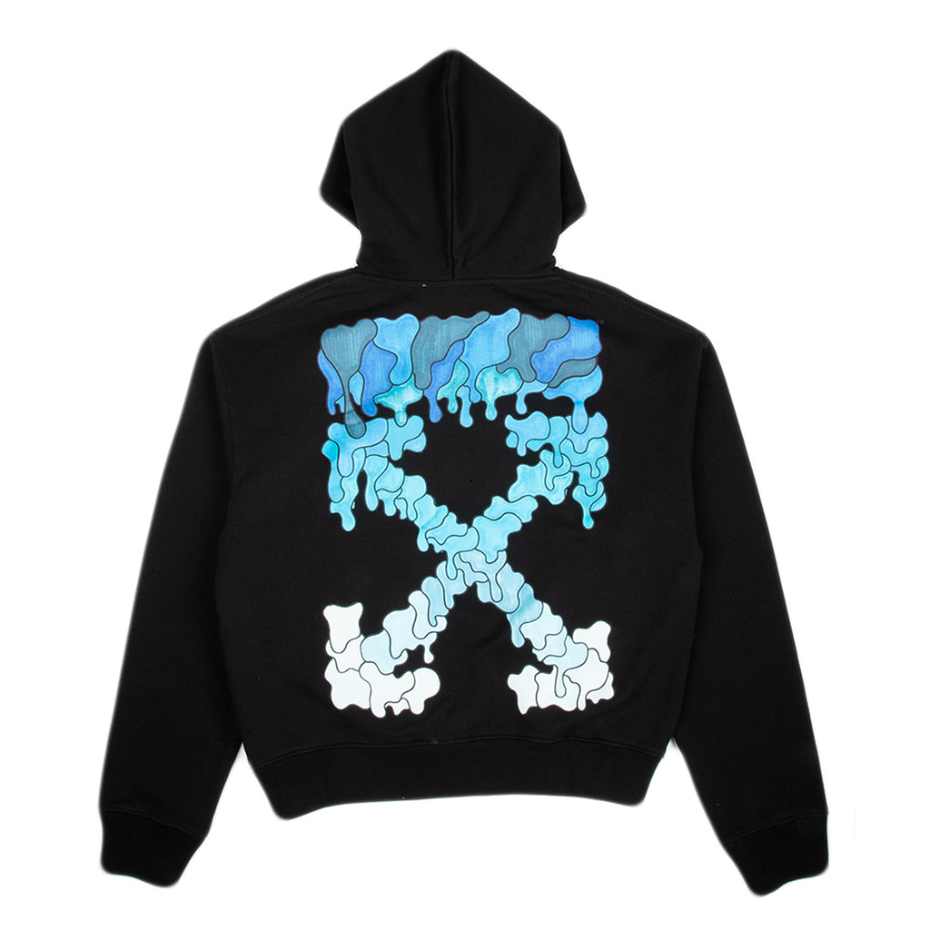 Off-White SS21 Blue Marker Over Hoodie, Black/Blue