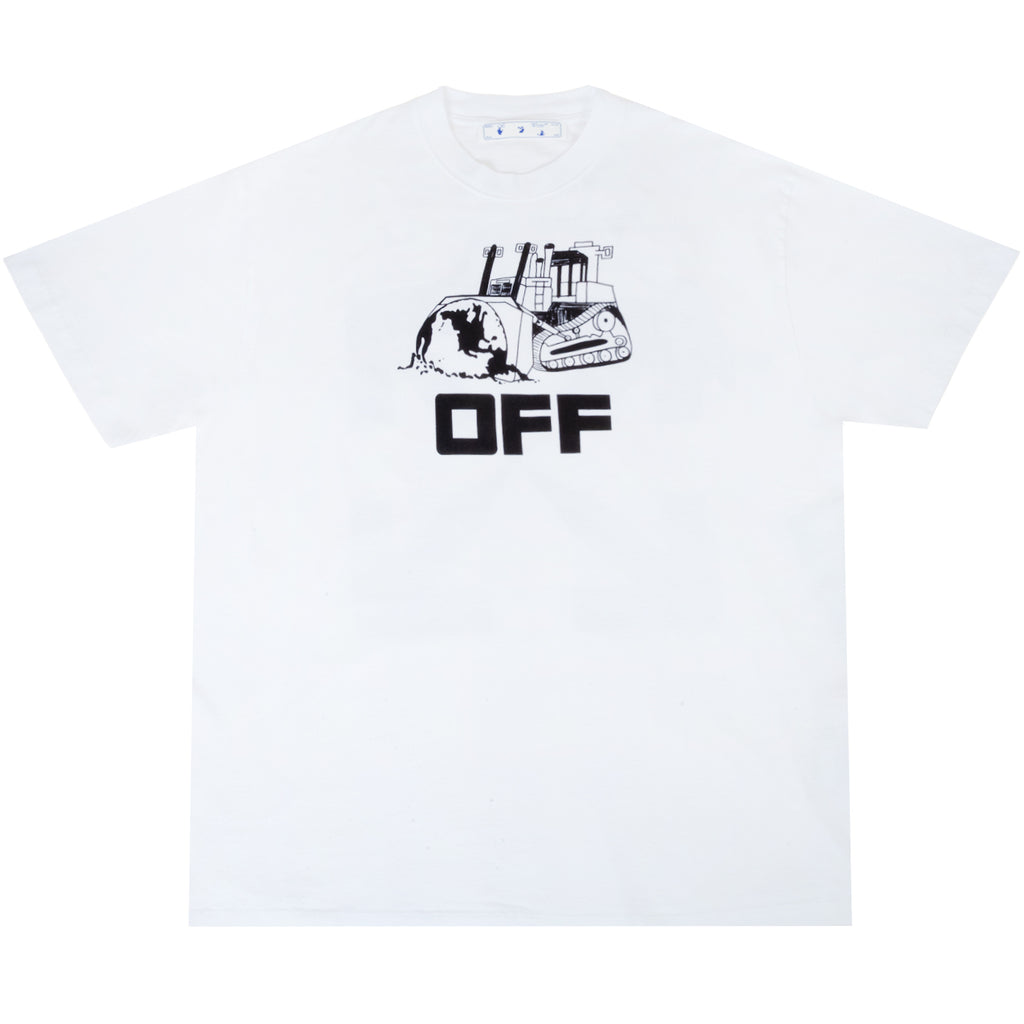 Off-White PS21 World Caterpilla S/S Over Tee, White/Black