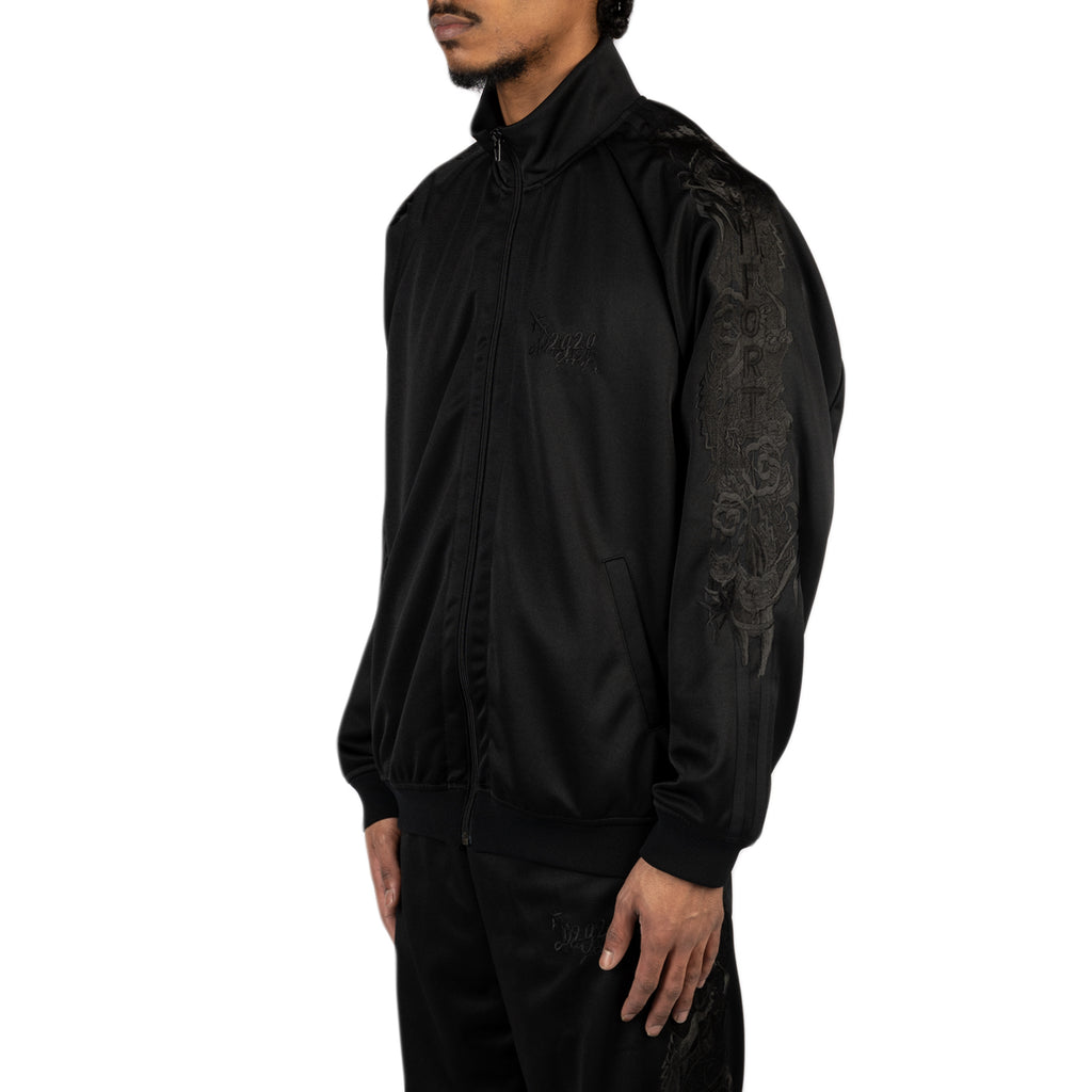 Doublet SS20 Chaos Embroidery Track Jacket, Black