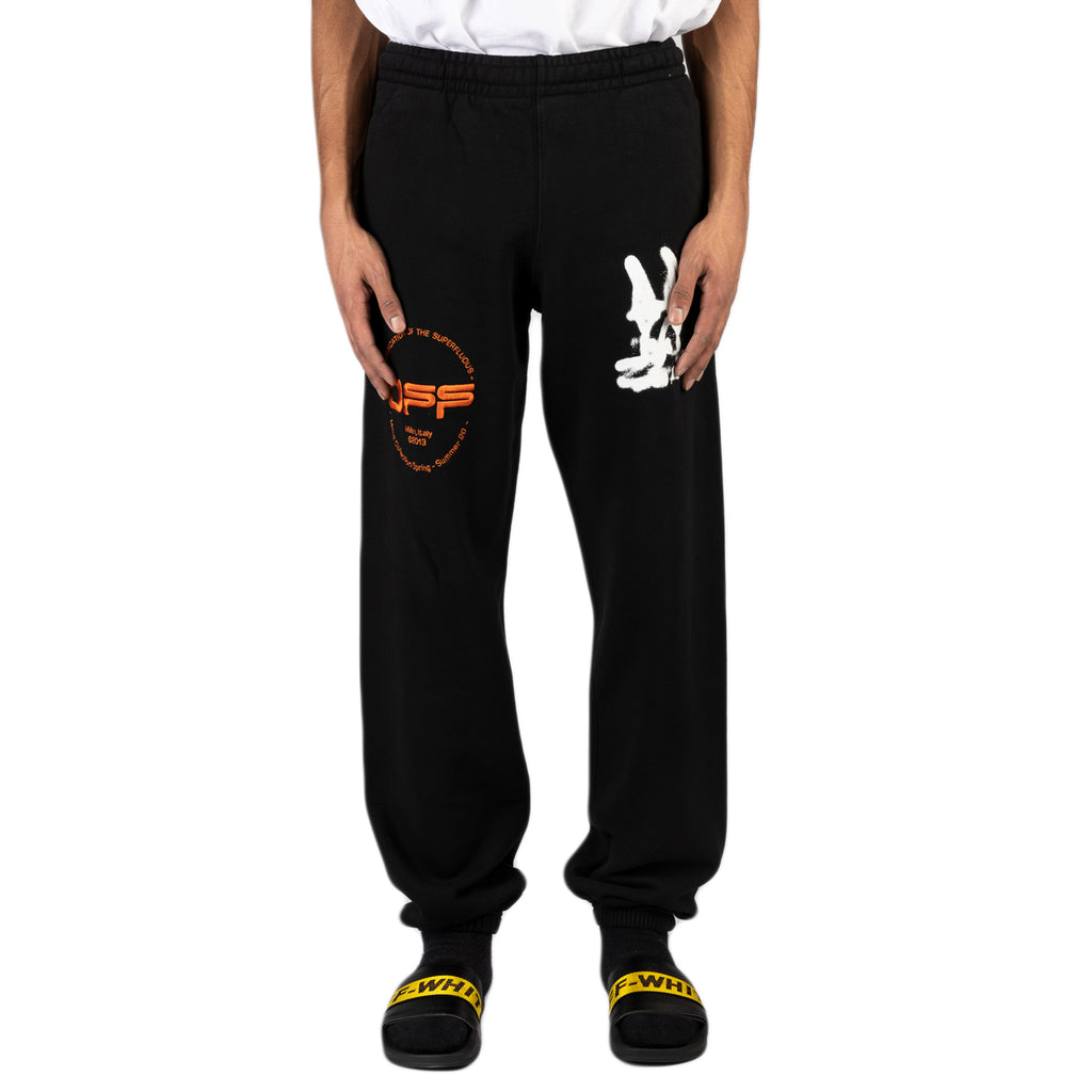 Off-White PS20 Cartoon Slim Sweatpant, Black/White