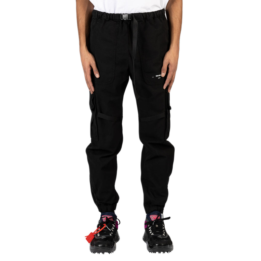 Off-White PS20 Parachute Cargo Pant, Black/White