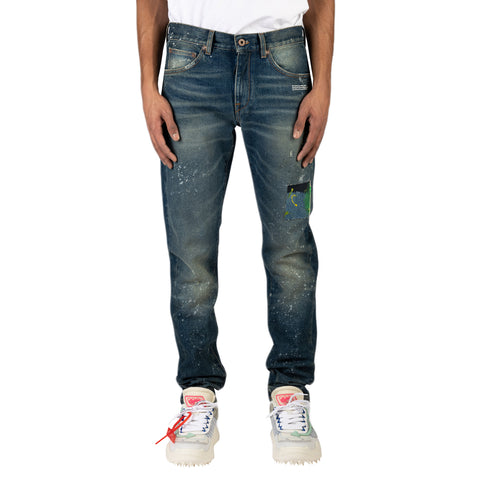 Off-White PS20 Slim Jeans Vintage , Paint White