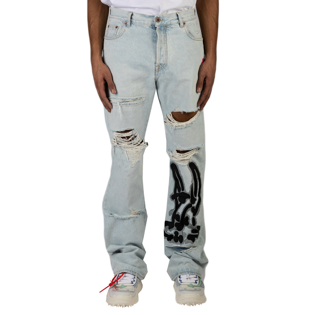 Off-White PS20 EV Low Fit Jeans , Bleach/Black