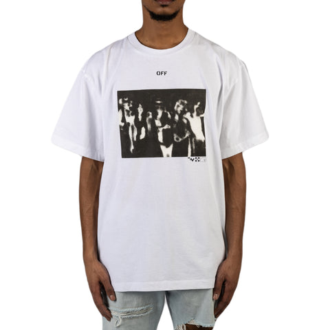 Off-White PS20 Spray Painting S/S Over Tee, White/Black