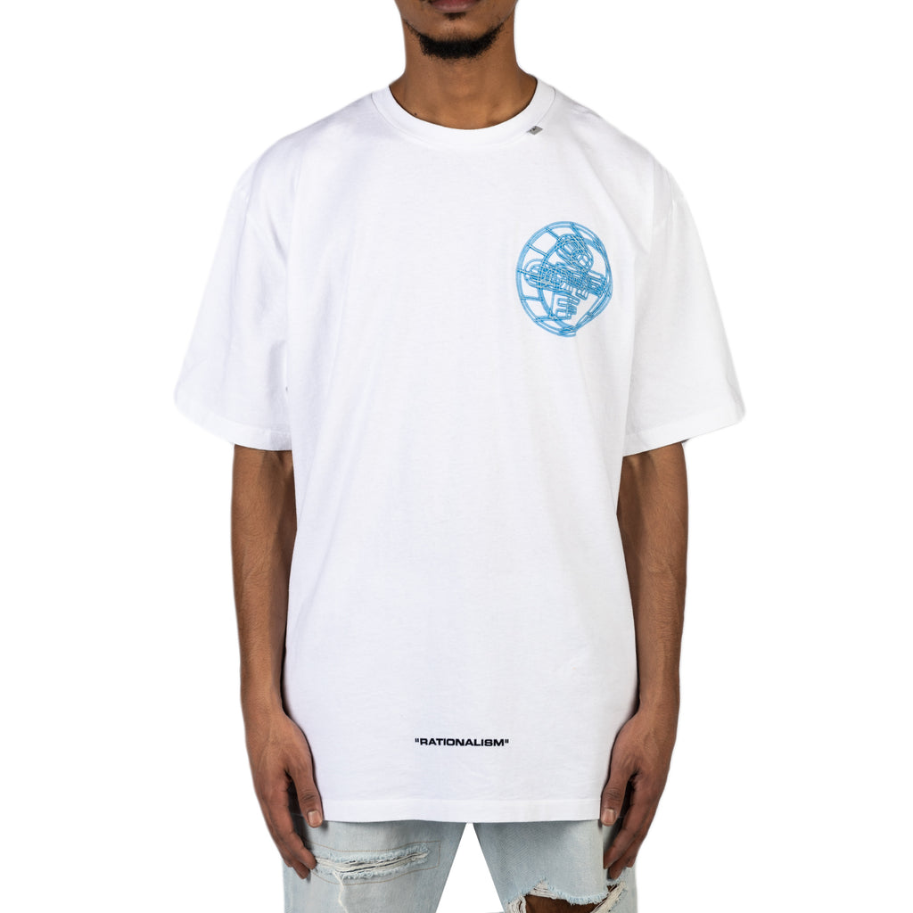 Off-White PS20 3D Crossed Off S/S Over Tee, White/Multi