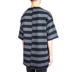 Midnight Studios Deconstructed Striped Tee (Black)
