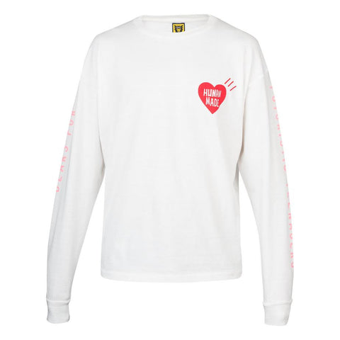 Human Made Heart L/S Tee (White)