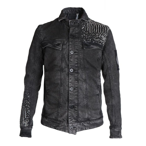 11 By Boris Bidjan Saberi Almighty Denim Jacket (Black)