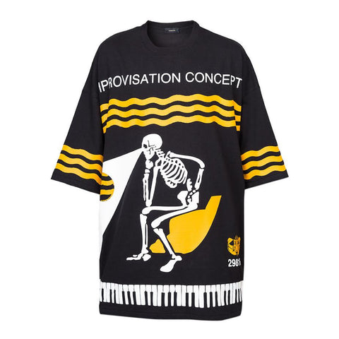 Undercover Improvisation Tee (Black/Yellow)