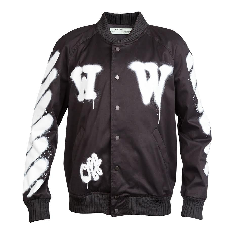 Off-White Diag Spray Varsity (Black/White)