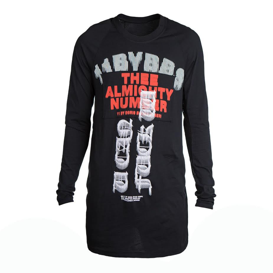 11 By Boris Bidjan Saberi Almighty Tee (Black)