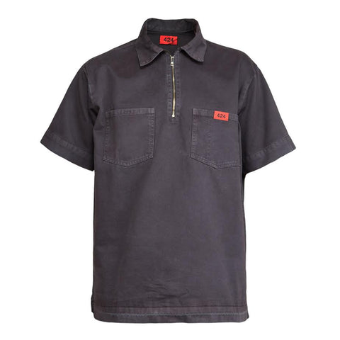 424 Half Zip Work Shirt (Grey)