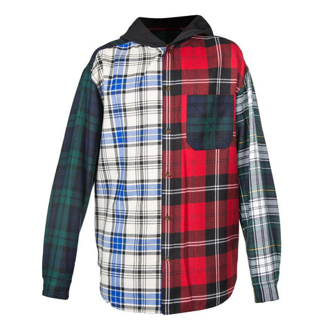 Alexander Wang Patchwork Hooded Overshirt (Multi)