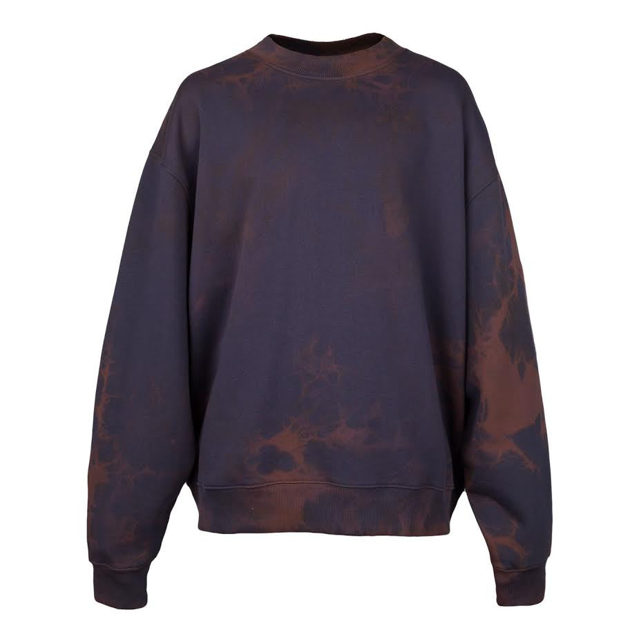 Acne Yana Bleach Crewneck (Navy)