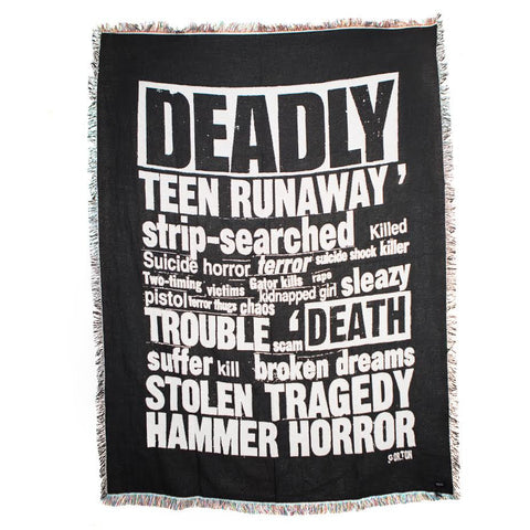 Midnight Studios Terror Collage Blanket (Black)