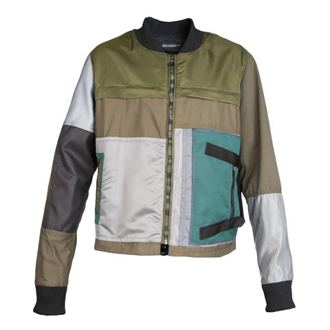 Long Journey Patchwork Bomber (Green)