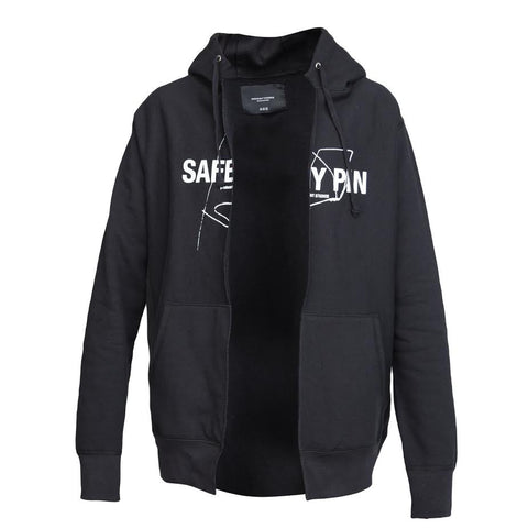 Midnight Studios Safety Pin Split Hoodie (Black)
