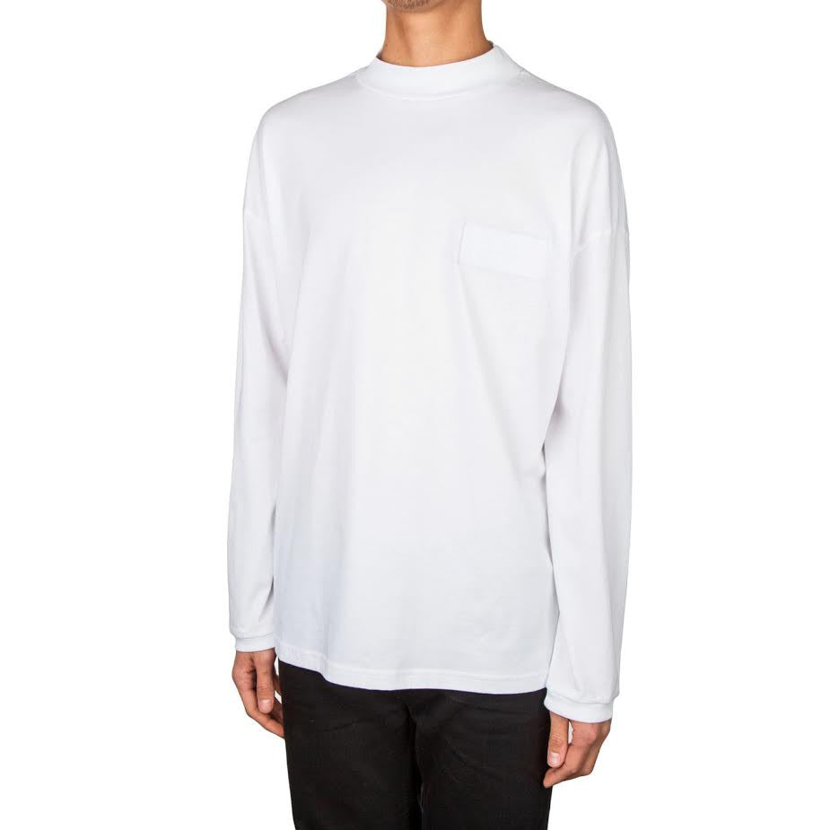 Martine Rose Funnel Neck Top (White/Red)