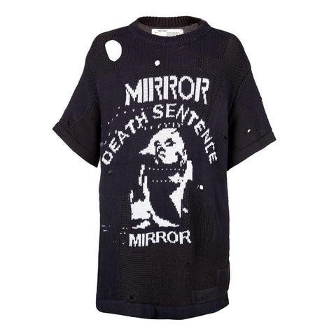 Off White Sentence Knit Rock S/S Tee (Black)