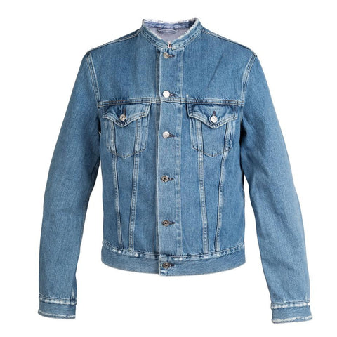 Acne Who Fray Denim Jacket (Indigo)