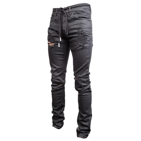 Off-White Diag Spray Jeans Rips (Black)