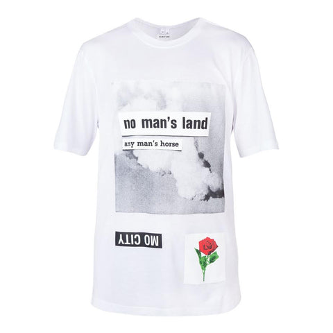 Helmut Lang x La Flame No Man Land Print Tee (Optic White)
