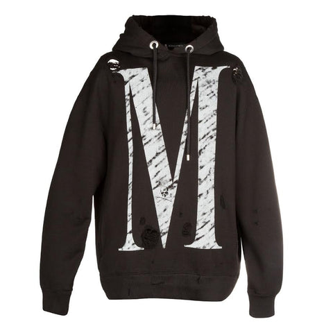 mastermind JAPAN Distressed M Hood (Black)