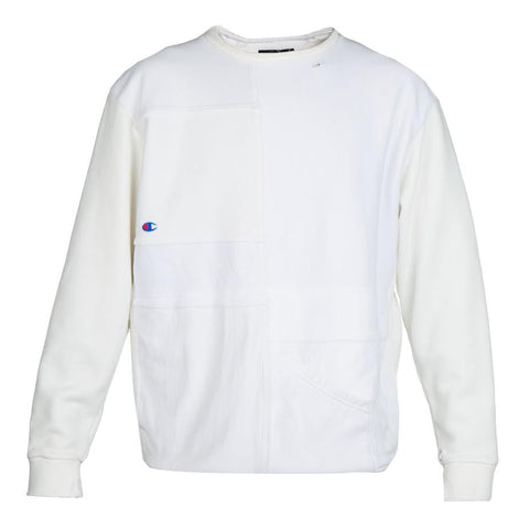 Long Journey Nash Patchwork Sweatshirt (White)