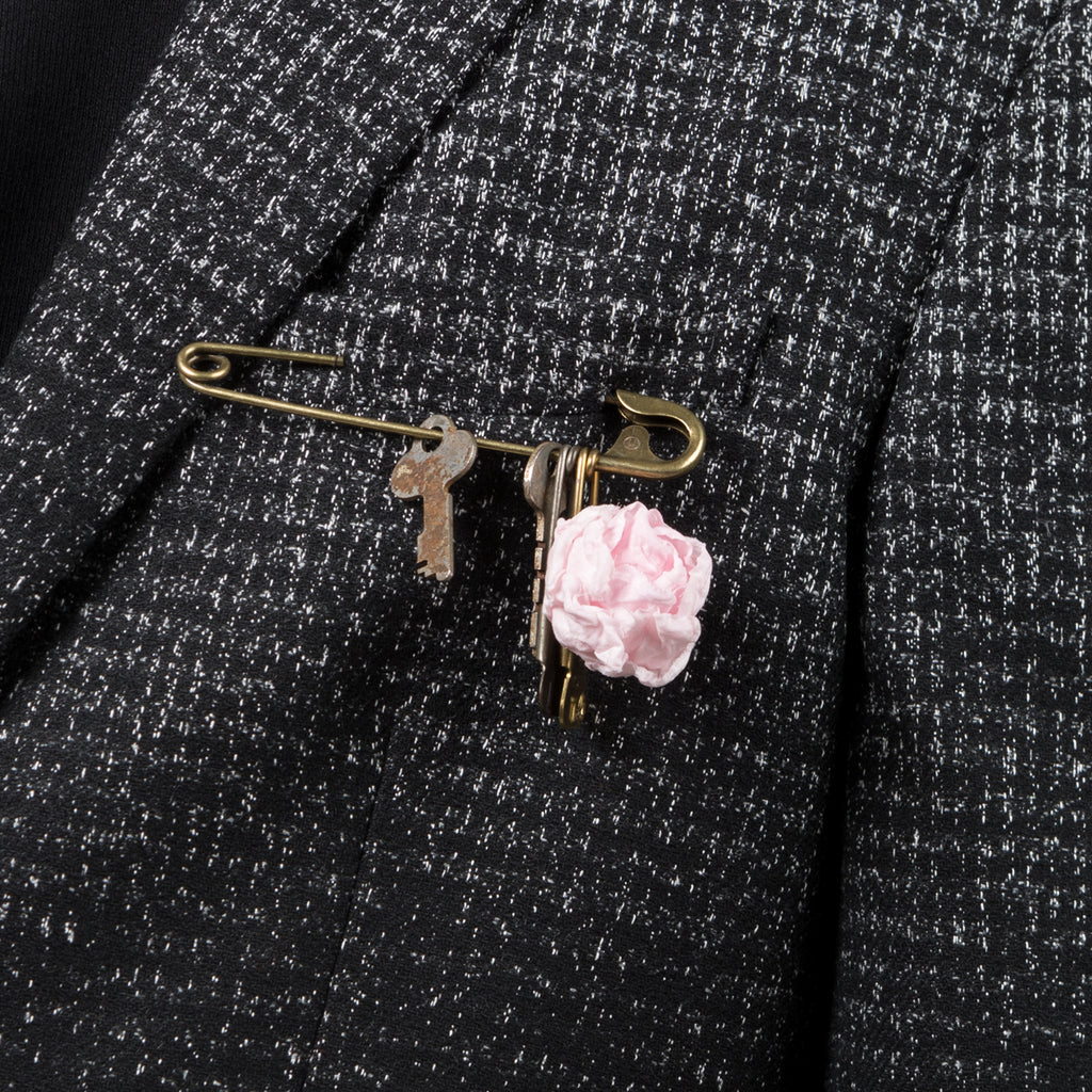 Undercover Brass Pin with Silk Flower