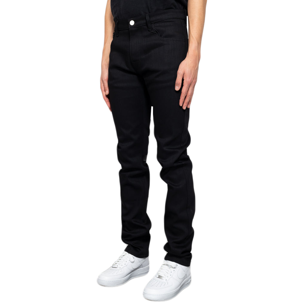 Raf Simons Regular Fit Denim Pants W/ Tape and Patch, Black