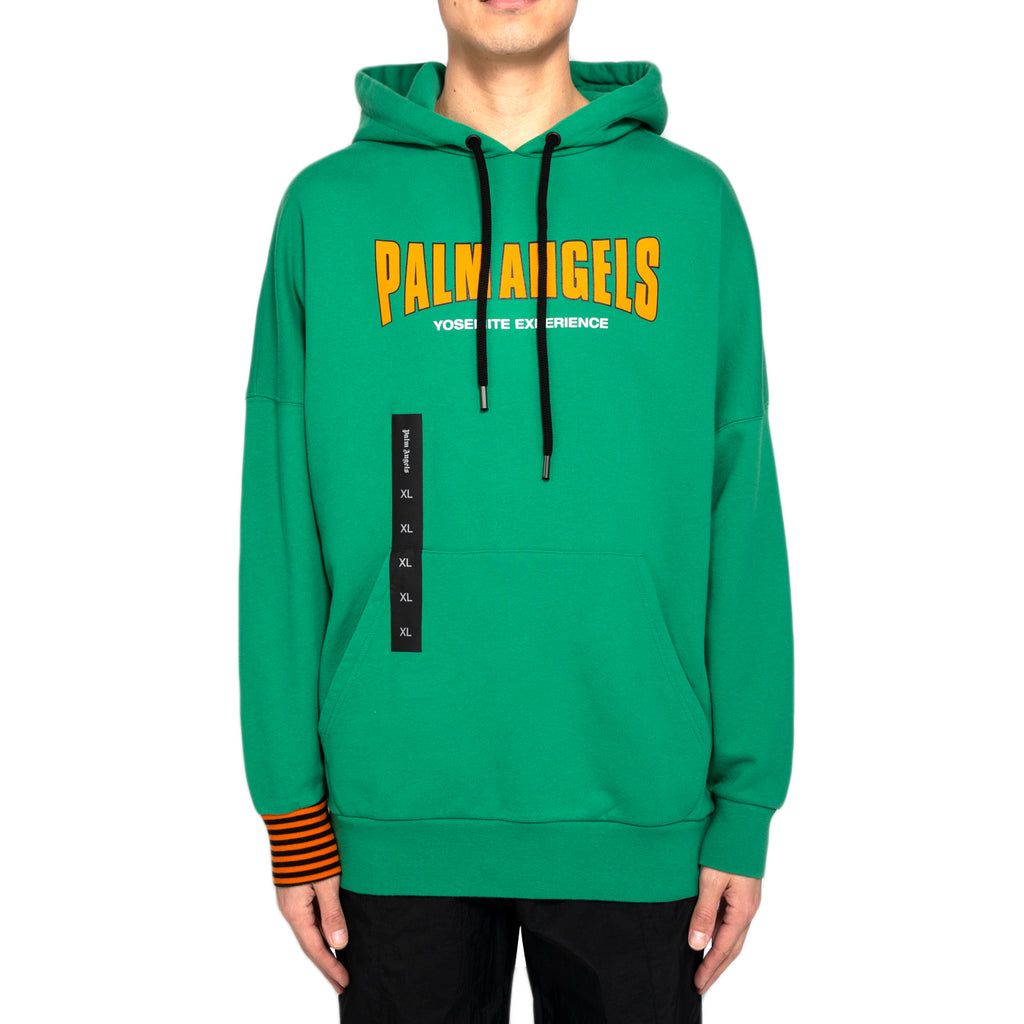 Palm Angels Vintage Logo Over Hoody, Dark Green