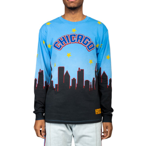 Just Don Chicago 2020 All-Star L/S Tee, Blue/Black