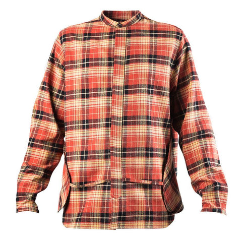 Mr. Completely Banded Collar Pocket Shirt (Rust)