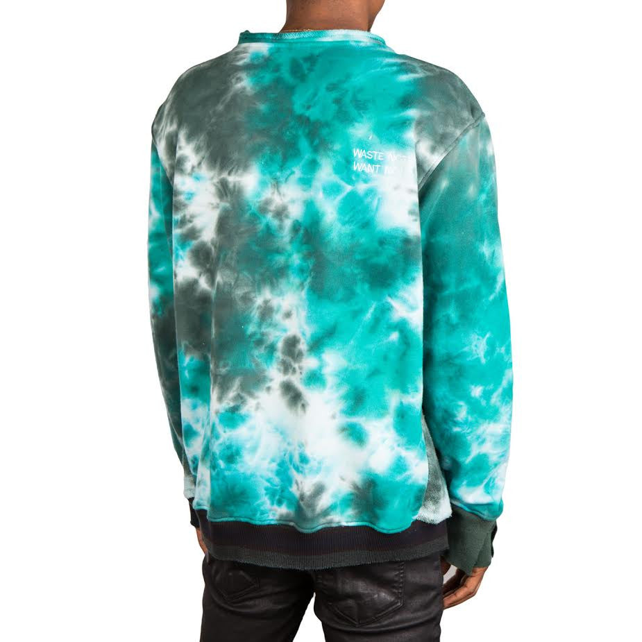 Long Journey Nash Tie Dye Sweatshirt (Green)