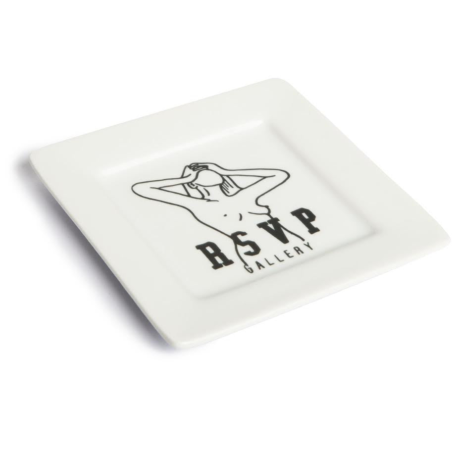 RSVP Gallery Just A Friend Ceramic Plate (White)