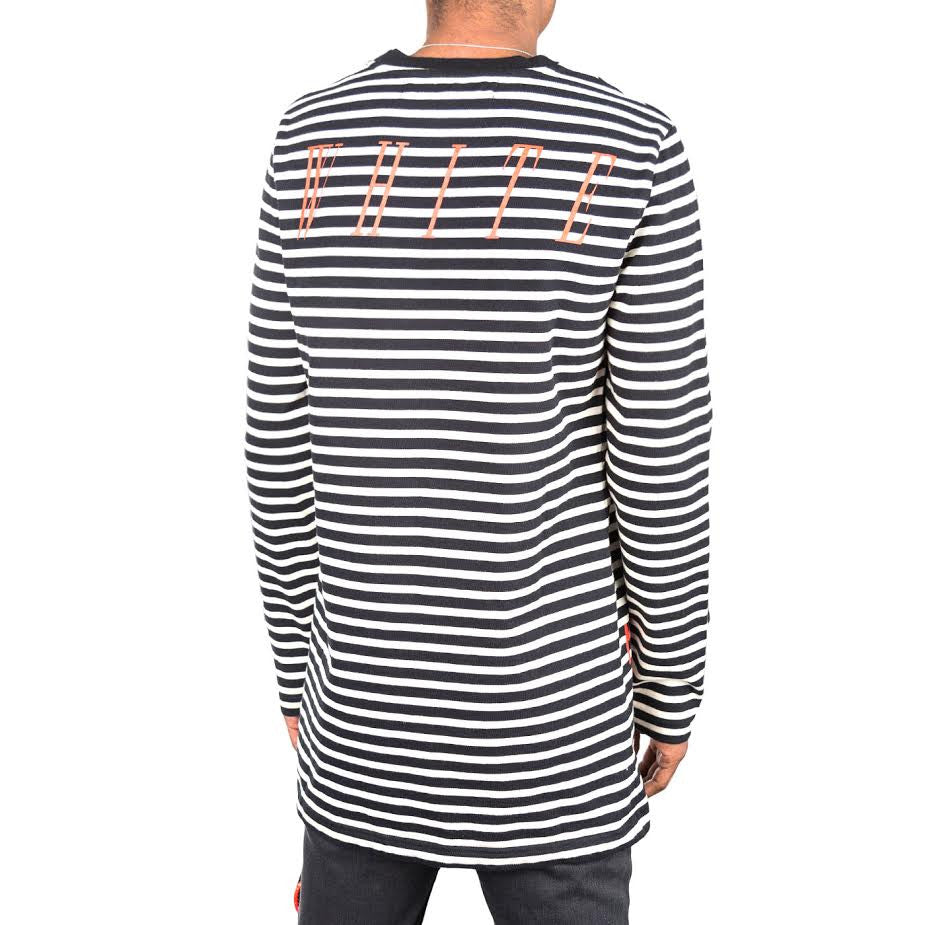 Off White Mirror Striped Long Sleeve (White/Black)