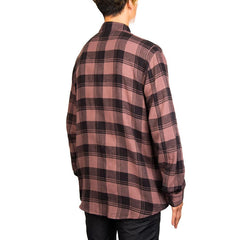 Robert Geller Plaid Dress Shirt (Pink)