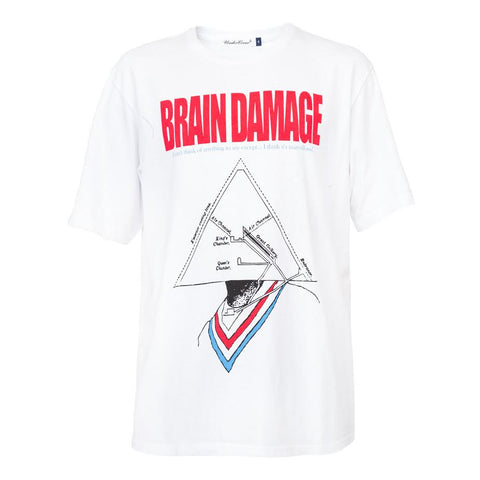 Undercover Brain Damage Tee (White)