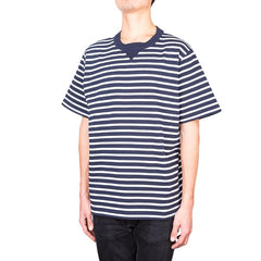 Sacai Dixie Border tee (Navy)