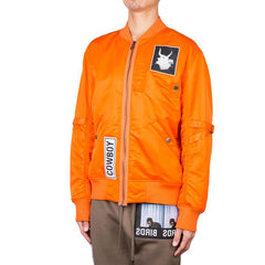 Helmut Lang x La Flame Cowboy Patch Bomber (Safety Orange)