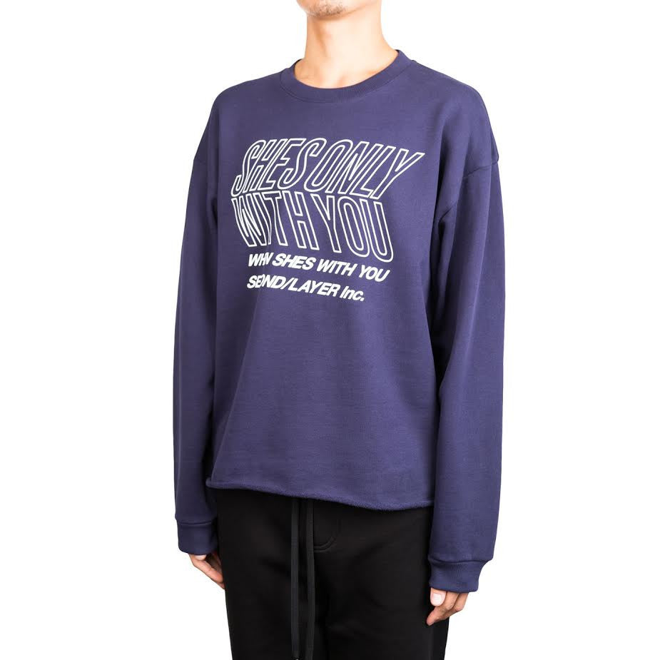 Second Layer Oversized Cropped Pullover Shes Only (Navy)